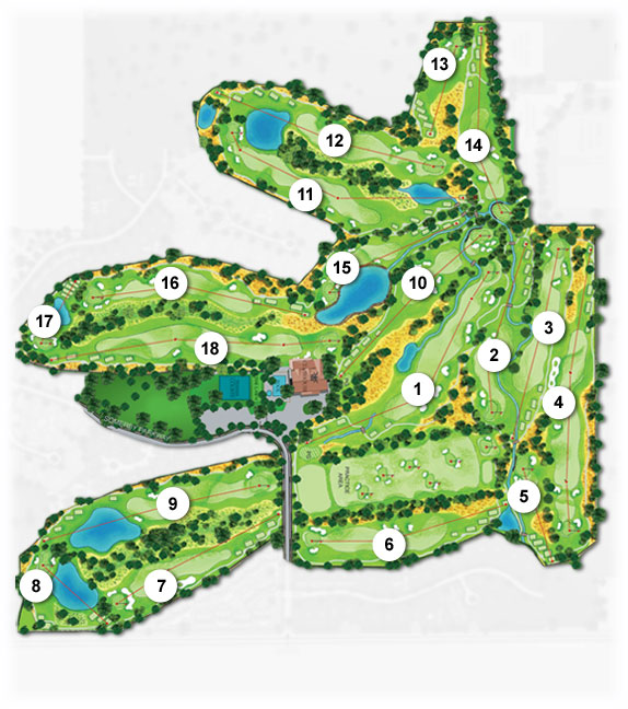 Somerby Golf Course Layout